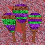 Three beautiful fairy tree abstract pattern Royalty Free Stock Photo