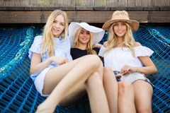 Three beautiful friends Royalty Free Stock Photography