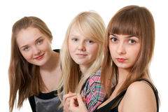 Three beautiful girl Royalty Free Stock Photos