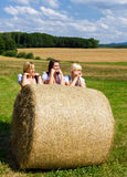 Three beautiful girls in Dirndl Stock Photo