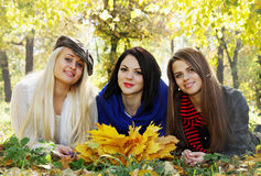 Three beautiful girls Royalty Free Stock Image