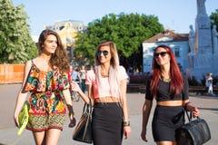 Three beautiful girls Stock Image