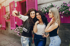 Three beautiful girls Stock Photography