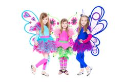 Three beautiful little girls Stock Photos