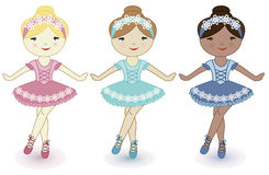 Three beautiful lovely girls of ballerinas Royalty Free Stock Photography