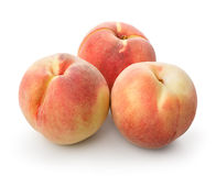 Three beautiful peaches Royalty Free Stock Photography