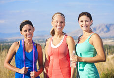 Three Beautiful Runners Royalty Free Stock Image