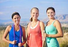 Three Beautiful Runners Royalty Free Stock Image