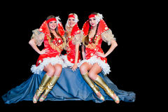 Three  beautiful women in dresses Royalty Free Stock Photography