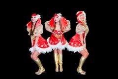 Three  beautiful women in dresses Royalty Free Stock Image