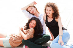 Three beautiful women smiling Royalty Free Stock Image