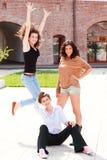 Three beautiful women smiling Royalty Free Stock Photo
