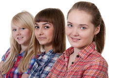 Three beautiful young girl Stock Photo