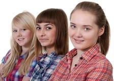 Three beautiful young girl Stock Photo