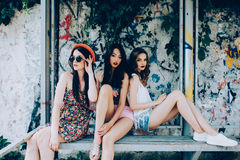 Three beautiful young girls Royalty Free Stock Photography