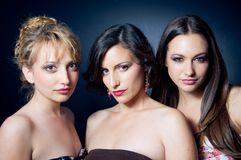 Three beautiful young woman Royalty Free Stock Photography