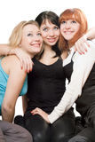 Three beautiful young women Stock Photography