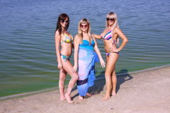 Three beautiful young women Royalty Free Stock Photography