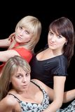 Three beautiful young women. Royalty Free Stock Photography