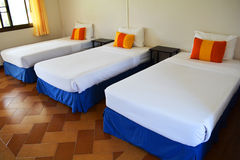Three bed hotel Royalty Free Stock Images