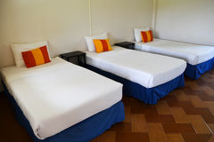 Three bed hotel Royalty Free Stock Photo