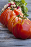 Three Beefsteak Tomatoes Royalty Free Stock Images