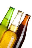 Three beer bottles Royalty Free Stock Photos