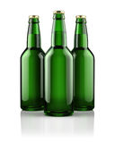 Three beer bottles Stock Image