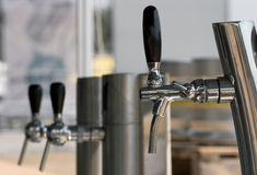 Three beer faucets Stock Image