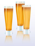 Three beer glasses Royalty Free Stock Photo