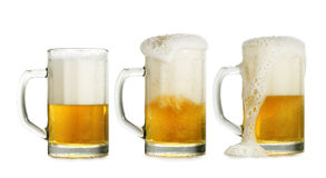 Three beer glasses Royalty Free Stock Images