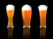 Three beers Stock Photo