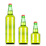 Three  beers bottles of different size Stock Image