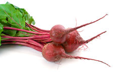 Three Beetroot over white Stock Photography