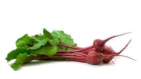Three Beetroot over white Stock Photo