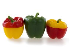 Three bell pepper Stock Photography