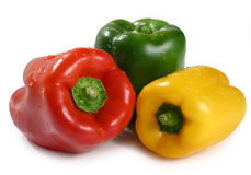 Three bell pepper Royalty Free Stock Image