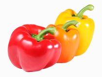 Three Bell Peppers Royalty Free Stock Images
