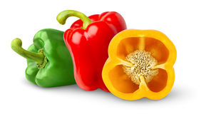 Free Three Bell Peppers Royalty Free Stock Photos - 15912438