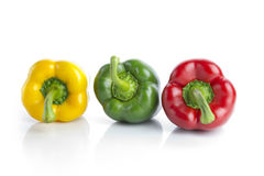 Three bell peppers Stock Photo