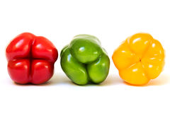 Three Bell Peppers royalty free stock photography