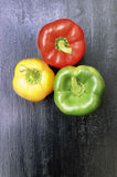 Three Bell Peppers Stock Photography