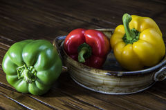 Three Bell Peppers  Royalty Free Stock Image