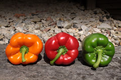Three Bell Peppers Royalty Free Stock Photo