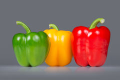 Three bell peppers Stock Photos