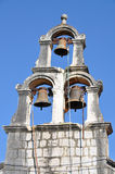 Three bells in clock tower Royalty Free Stock Photos