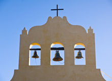 Three bells and a cross Stock Photo