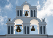 Three bells on a Greek Orthodox church Royalty Free Stock Photography