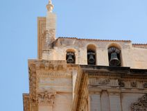 Three bells in Ragusa in Sicily Royalty Free Stock Photography