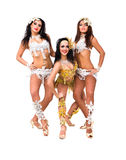 Three belly dancers Stock Photos